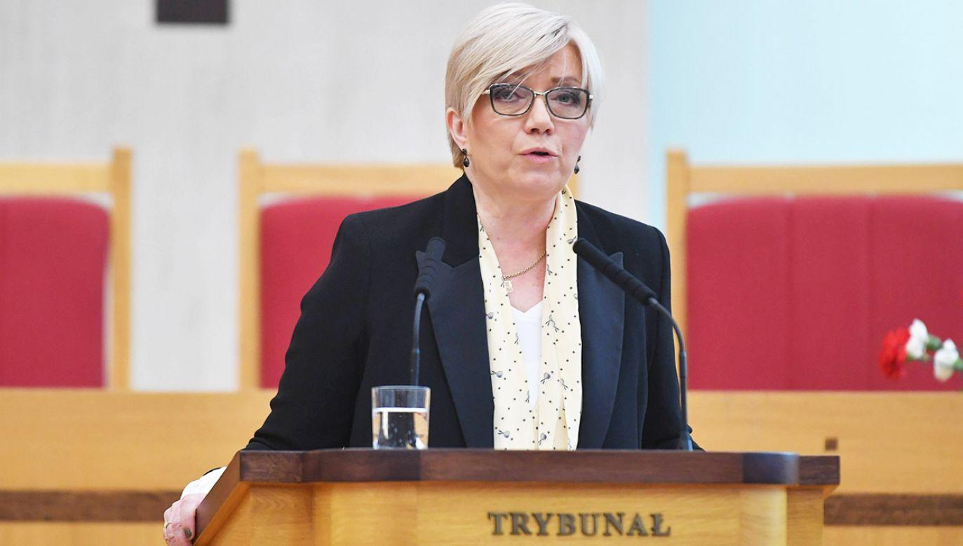 Prezes TK Julia Przyłębska (fot. arch.PAP/Bartłomiej Zborowski)