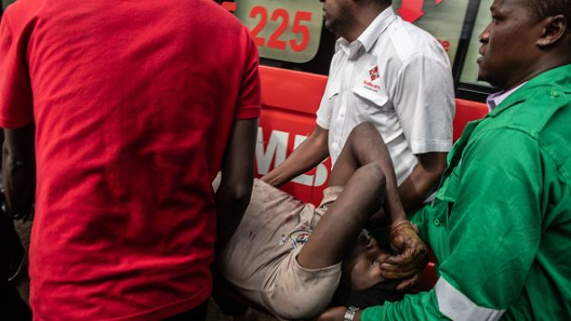 28 rannych osób jest w szpitalu (fot. Andrew Renneisen/Getty Images)