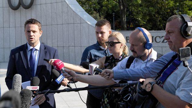 Rafał Trzaskowski wciąż nie ogłosił oficjalnego hasła swojej kampanii  (fot. PAP/Radek Pietruszka)