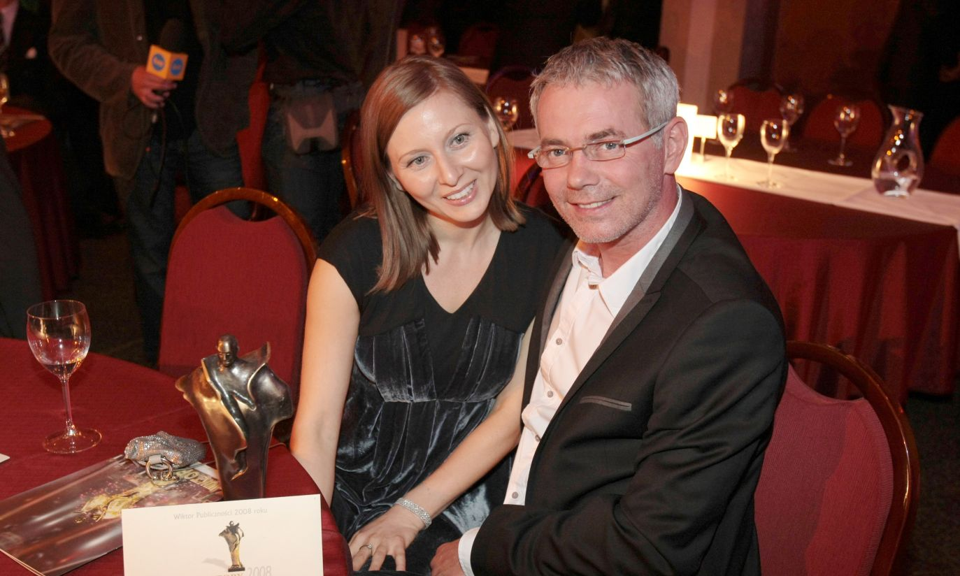 Robert Janowski z żoną (fot.PAP/Leszek Szymański)