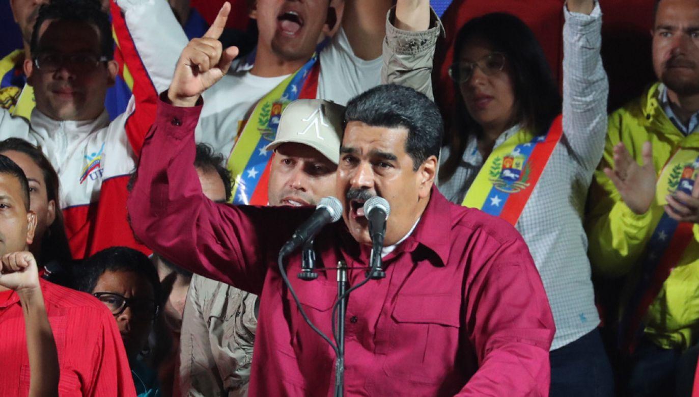 Prezydent Nicolas Maduro został wybrany na drugą kadencję (fot. PAP/EPA/MIGUEL GUTIERREZ)