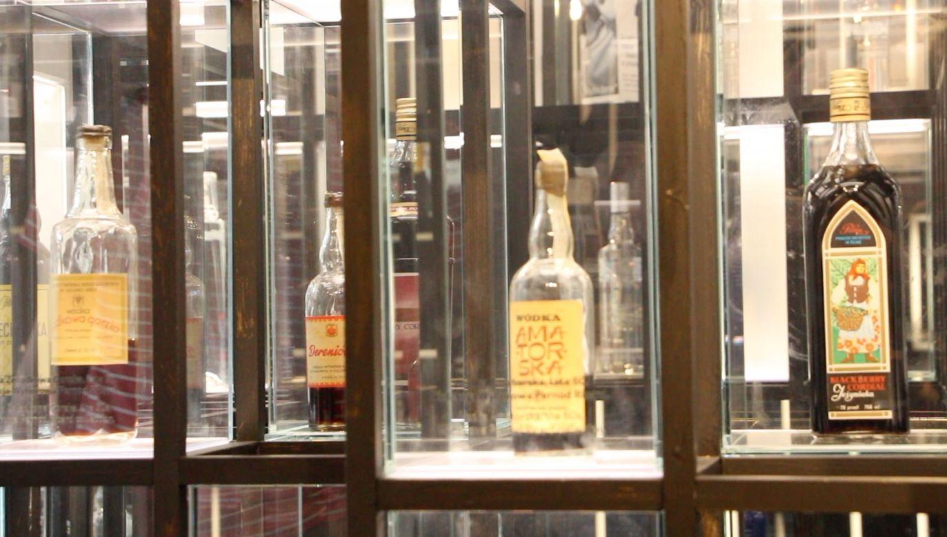 Wódki eksponowane w muzeum polskiej wódki (fot. portal tvp.info)