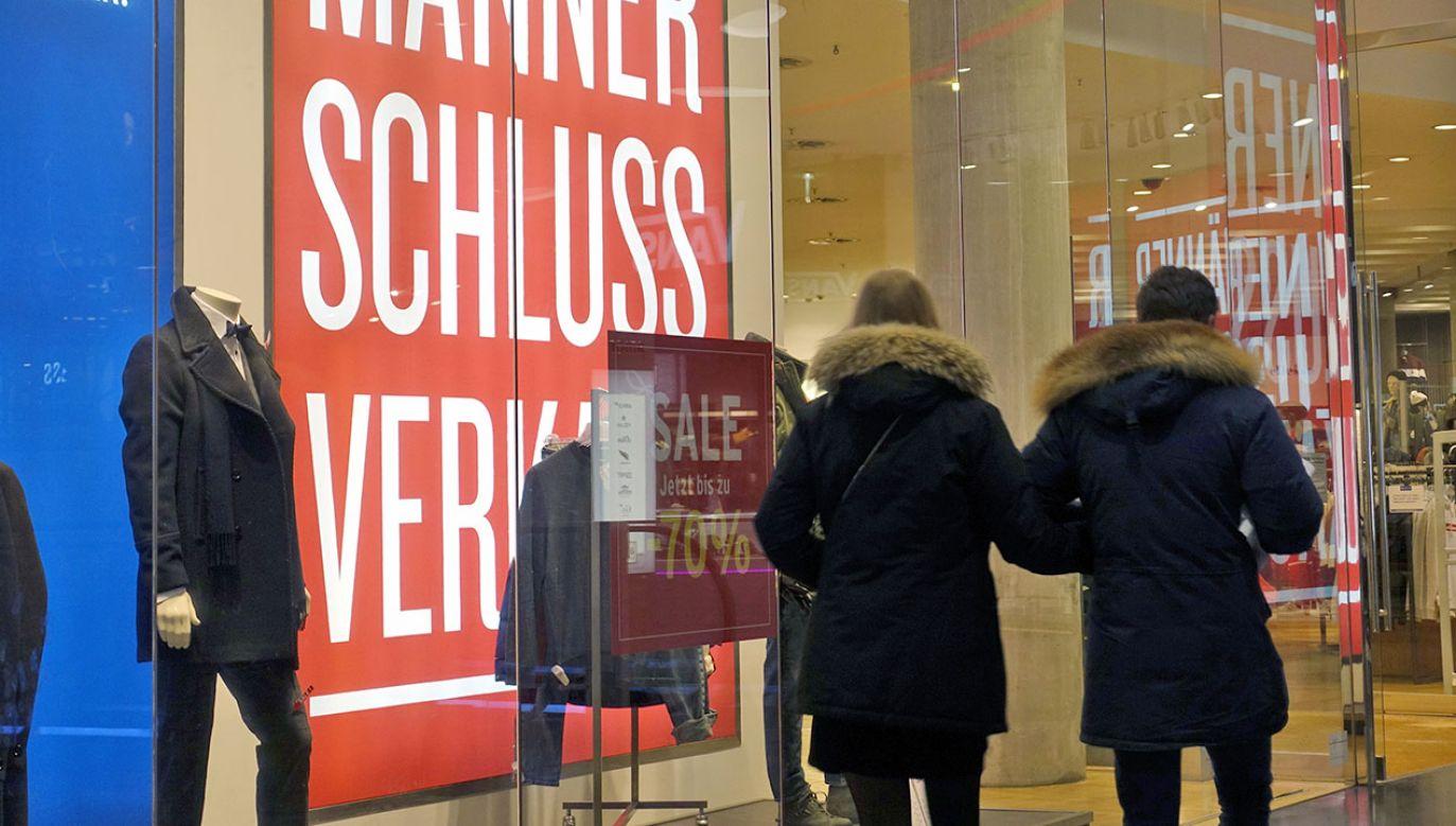Dane dotyczące niemieckiej gospodarki opublikował dziś Federalny Urząd Statystyczny. (fot. PAP/EPA/MAURITZ ANTIN)