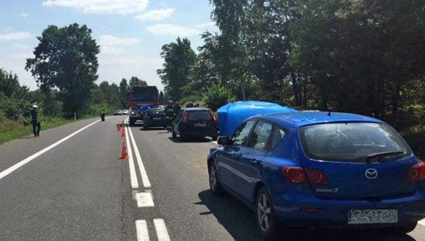 W wypadku ranne  zostały trzy osoby (fot. policja)