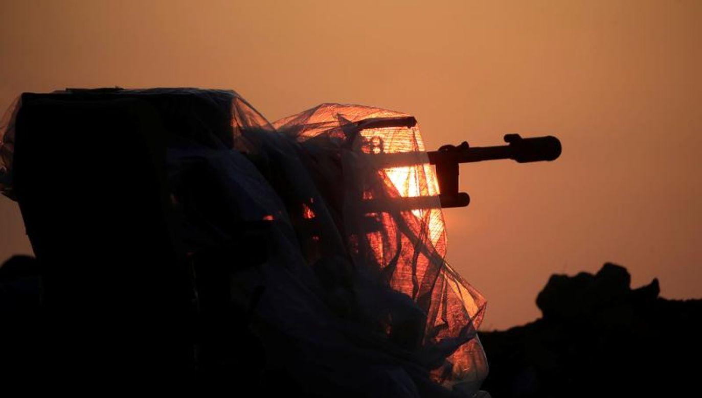 """Syryjskie media państwowe podały, że Izrael rozpoczął """"intensywny atak"""" z powietrza (fot. REUTERS/Alaa al-Marjani)"""