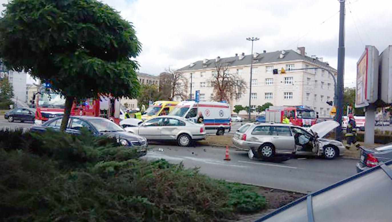Do szpitala trafiły dwie osoby (fot. tt/@jaroslawlewando)