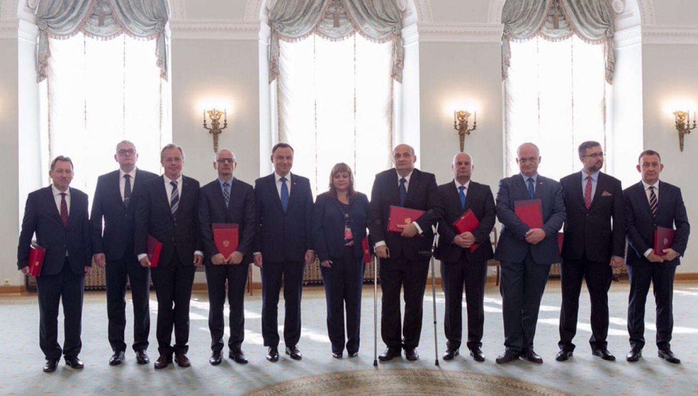 Prezydent Andrzej Duda powołał sędziów do Izby Dyscyplinarnej SN (fot. KPRP/Eliza Radzikowska-Białobrzewska)