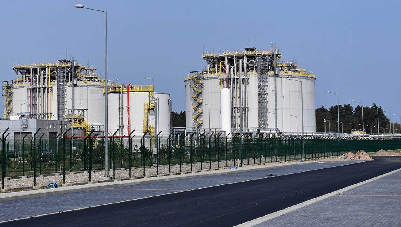 Położony na wyspie Wolin terminal LNG został otwarty w 2015 roku (fot. arch. PAP/Marcin Bielecki)