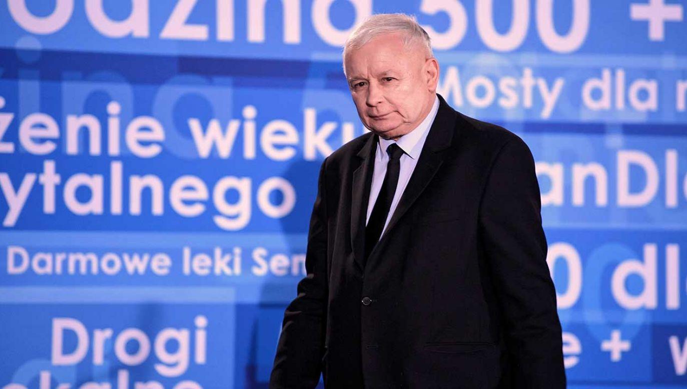 Jerzy Jachowicz i Michał Karnowski komentowali wystąpienie prezesa PiS (fot. arch. PAP/Darek Delmanowicz)