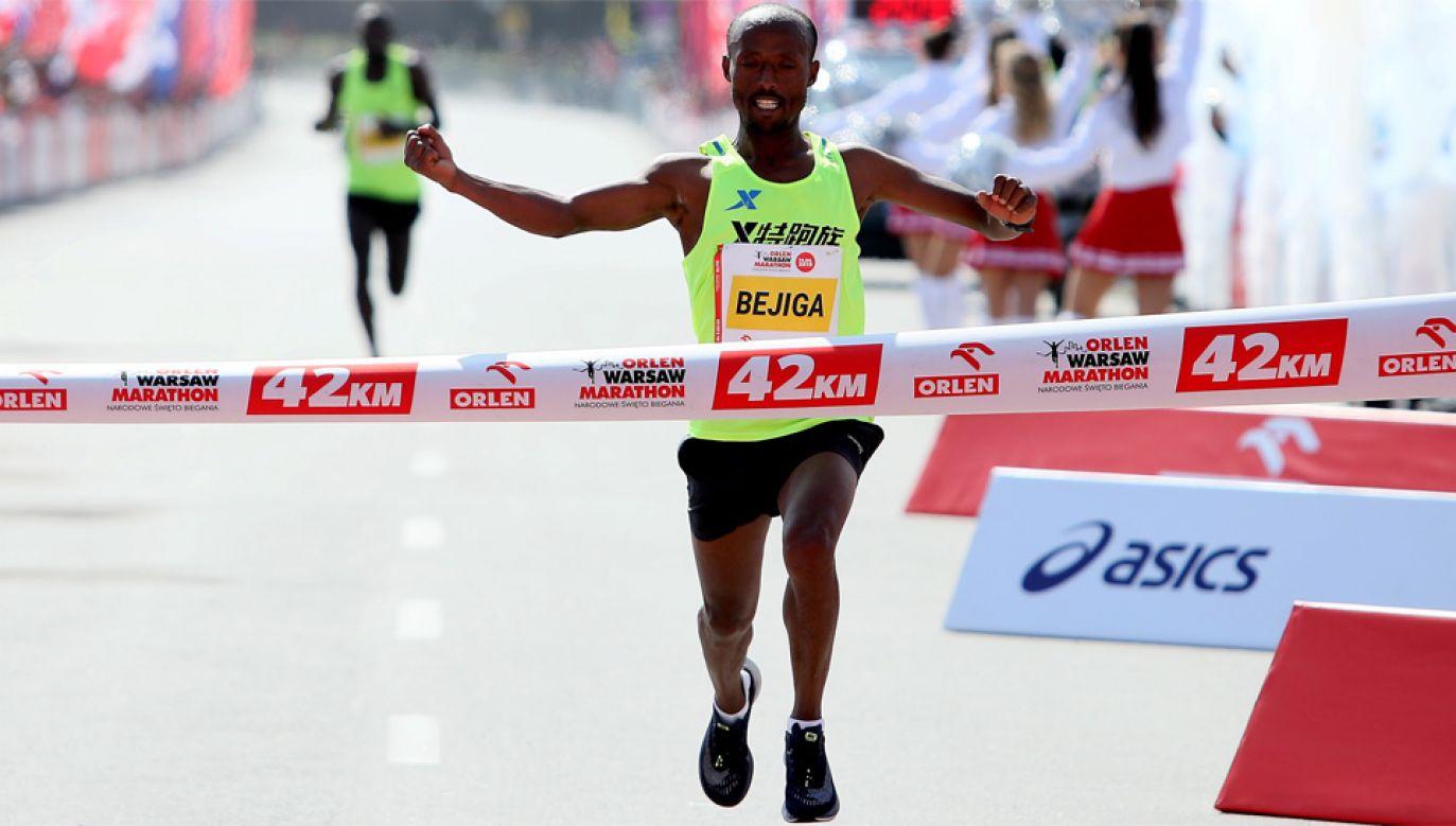 Zwyciężył Etiopczyk Regasa Mindaye Bejiga (fot. PAP/Leszek Szymański)