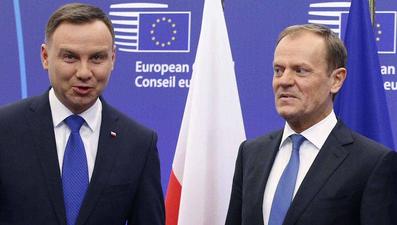 Z sondażu Pollster wynika, że Andrzej Duda w wyborach prezydenckim pokonałby Donalda Tuska  (fot. REUTERS/Francois Lenoir)