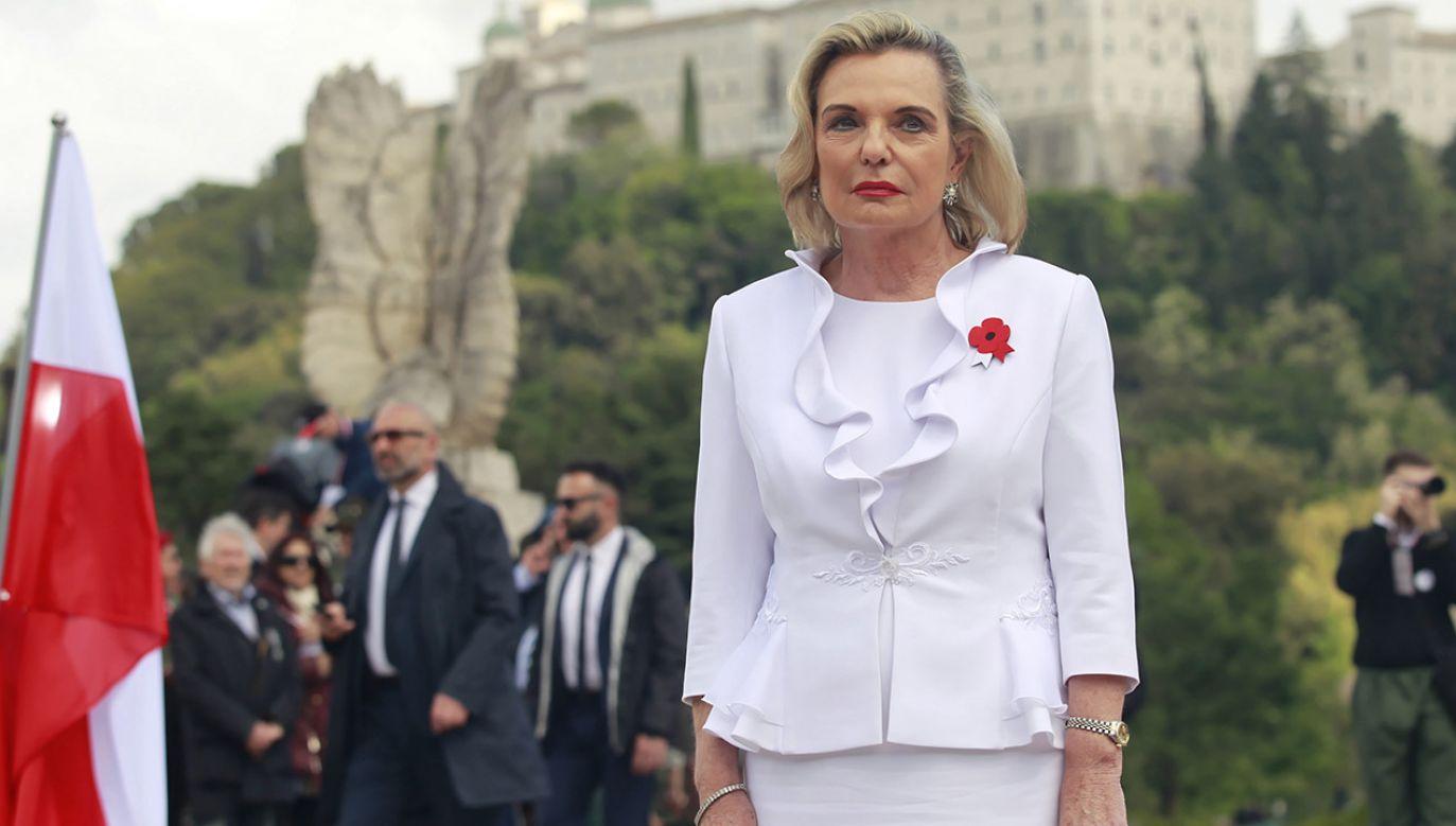 Nowa ambasador jest córką gen. Władysława Andersa, którego żołnierze zdobywali wzgórze Monte Cassino (fot. PAP/Wojciech Olkuśnik)
