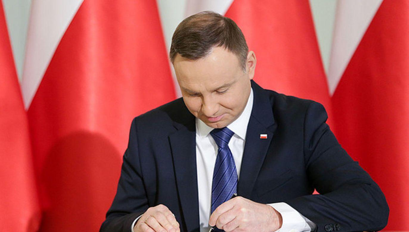 Prezydent Andrzej Duda podpisze nowele ustawy o RDS (fot. KPRP/Krzysztof Sitkowski)