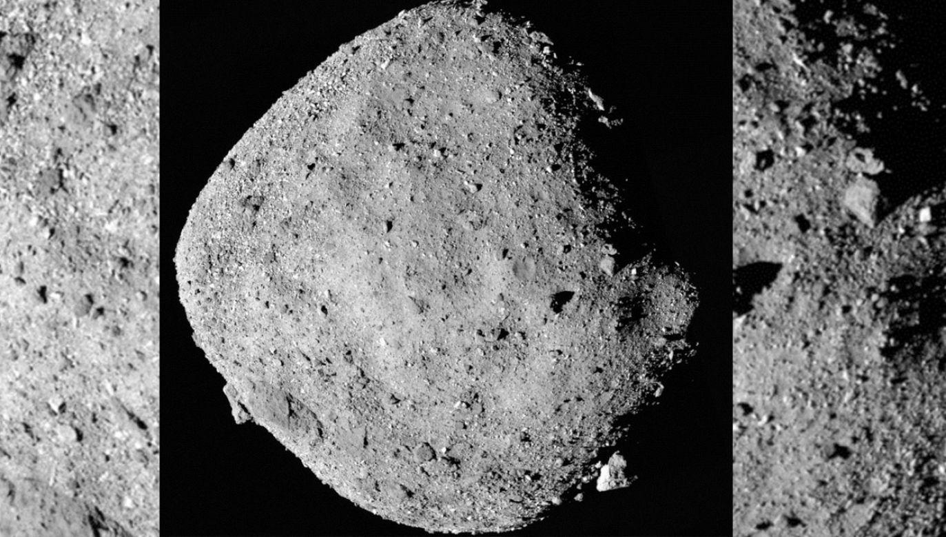 Próbnik zbliżył się na odległość zaledwie 19 km od obiektu o nazwie Bennu (fot. NASA/Goddard/University of Arizona)