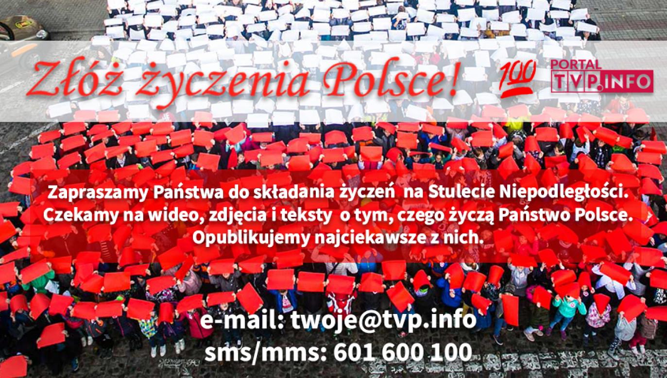 Zachęcamy do przesyłania życzeń Polsce na platformę Twoje Info (fot. Twoje info)