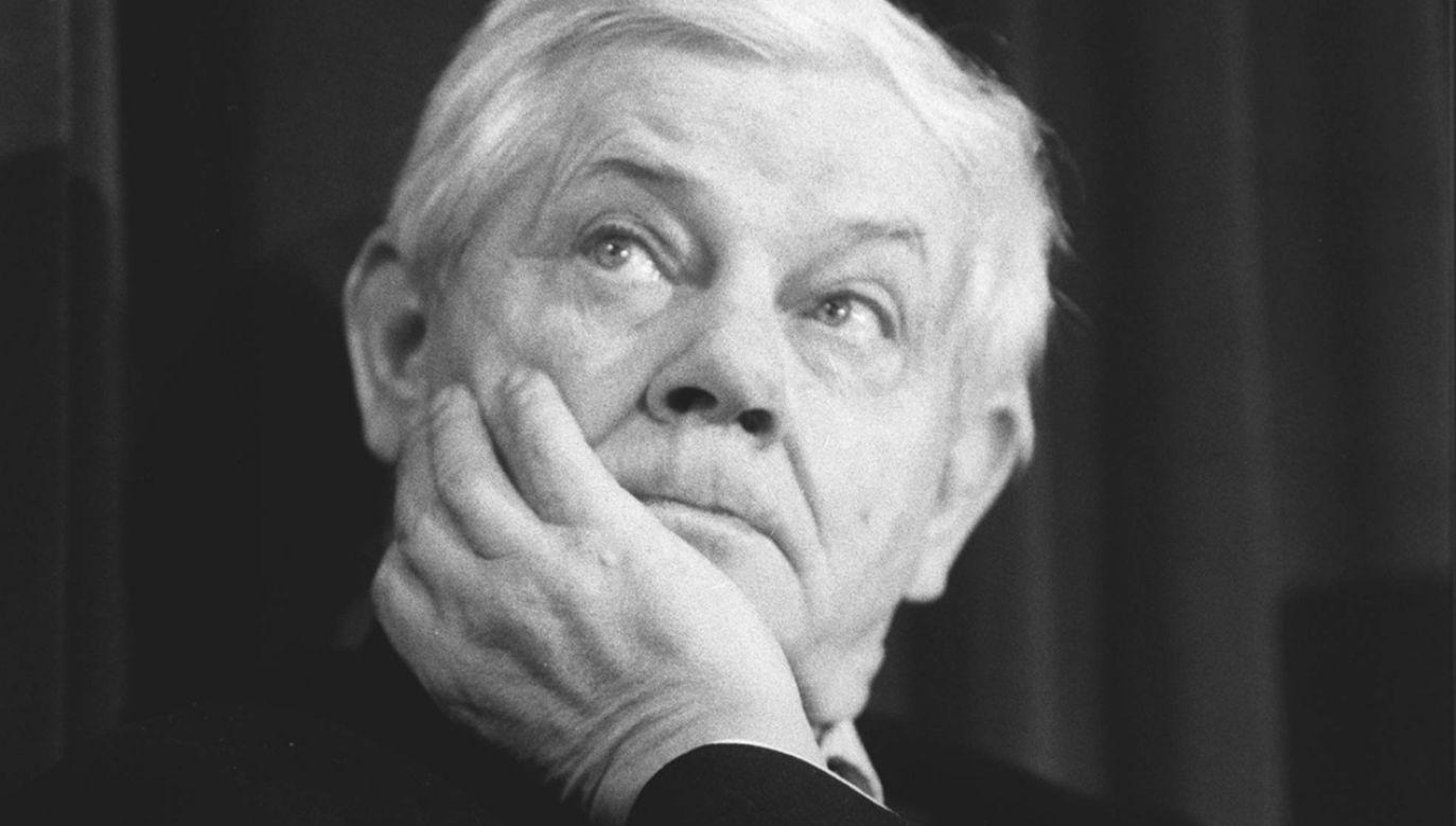 W programie omówionych zostanie osiem wierszy Zbigniewa Herberta (fot. arch. PAP/CAF-Piotr Janowski)