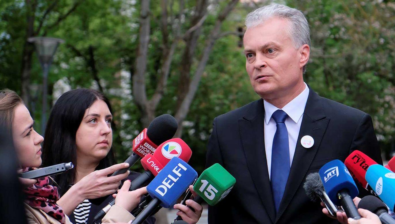 Rywalka Nausedy, była minister finansów Ingrida Szimonyte, kandydatka konserwatystów ze Związku Ojczyzny - Litewscy Chrześcijańscy Demokraci, uzyskała 26 proc. głosów (fot. REUTERS/Ints Kalnins)