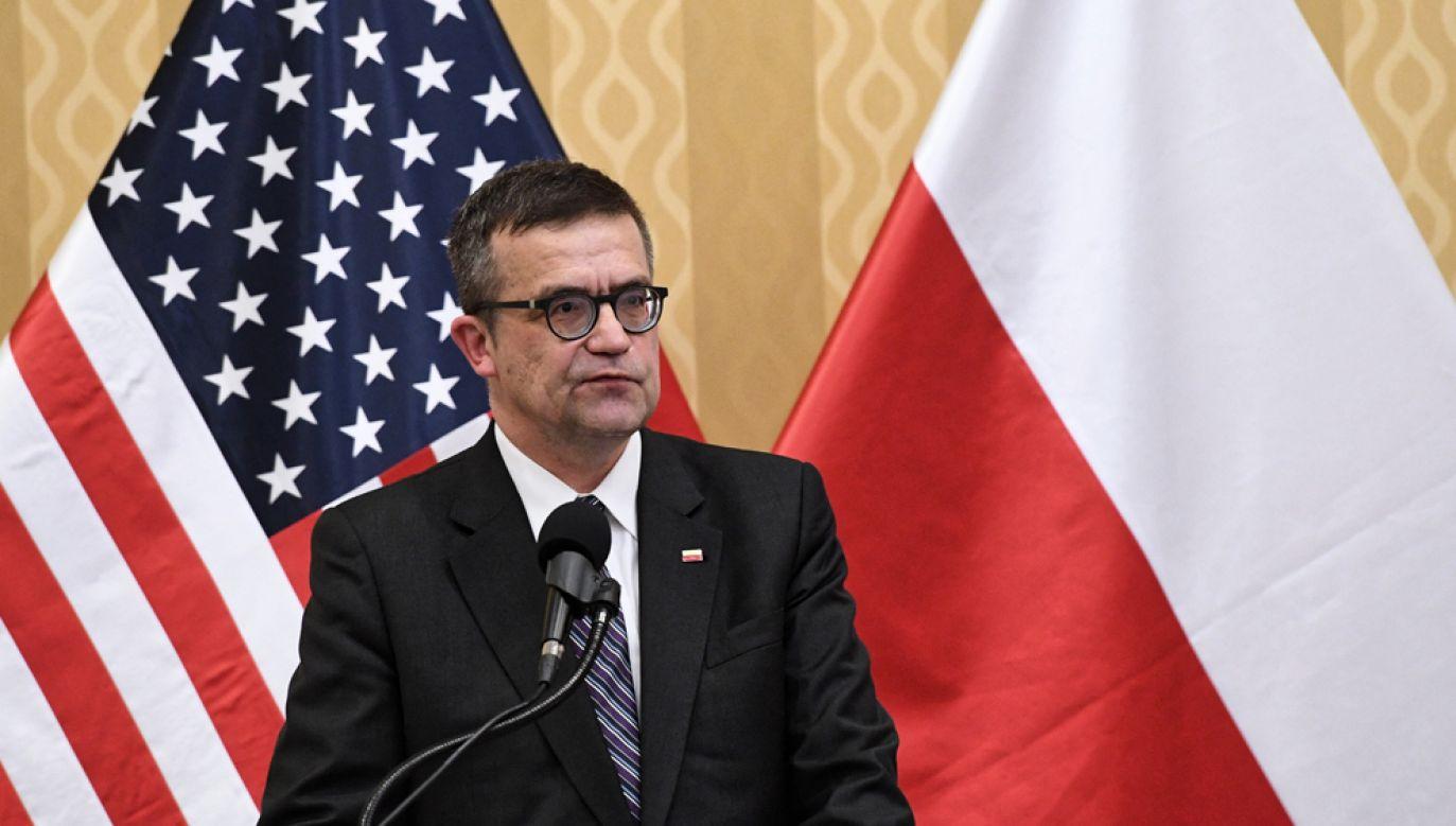 """Ambasador Polski w USA Piotr Wilczek wypowiedział sie na łamach prestiżowego magazynu """"The National Intrest"""" (fot. arch. PAP/Radek Pietruszka)"""