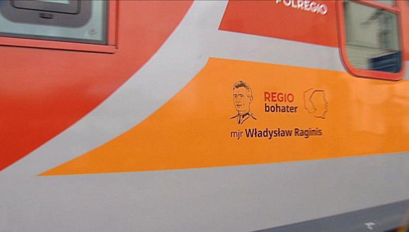 Patrona pociągu wybrali w głosowaniu internauci (fot. TVP3 Białystok)