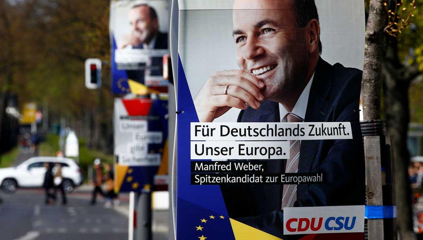 – Jako Spitzenkandidat na stanowisko szefa Komisji Europejskiej z ramienia Europejskiej Partii Ludowej chcę budować mosty między Wschodem a Zachodem Europy – powiedział Weber (fot. REUTERS/Fabrizio Bensch)