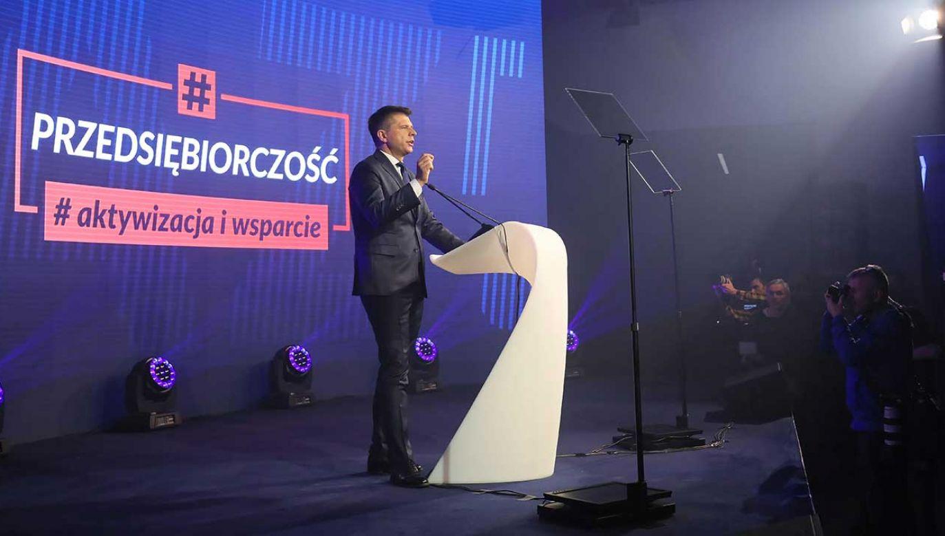 Ryszard Petru podczas konwencji partii Teraz (fot. PAP/Paweł Supernak)