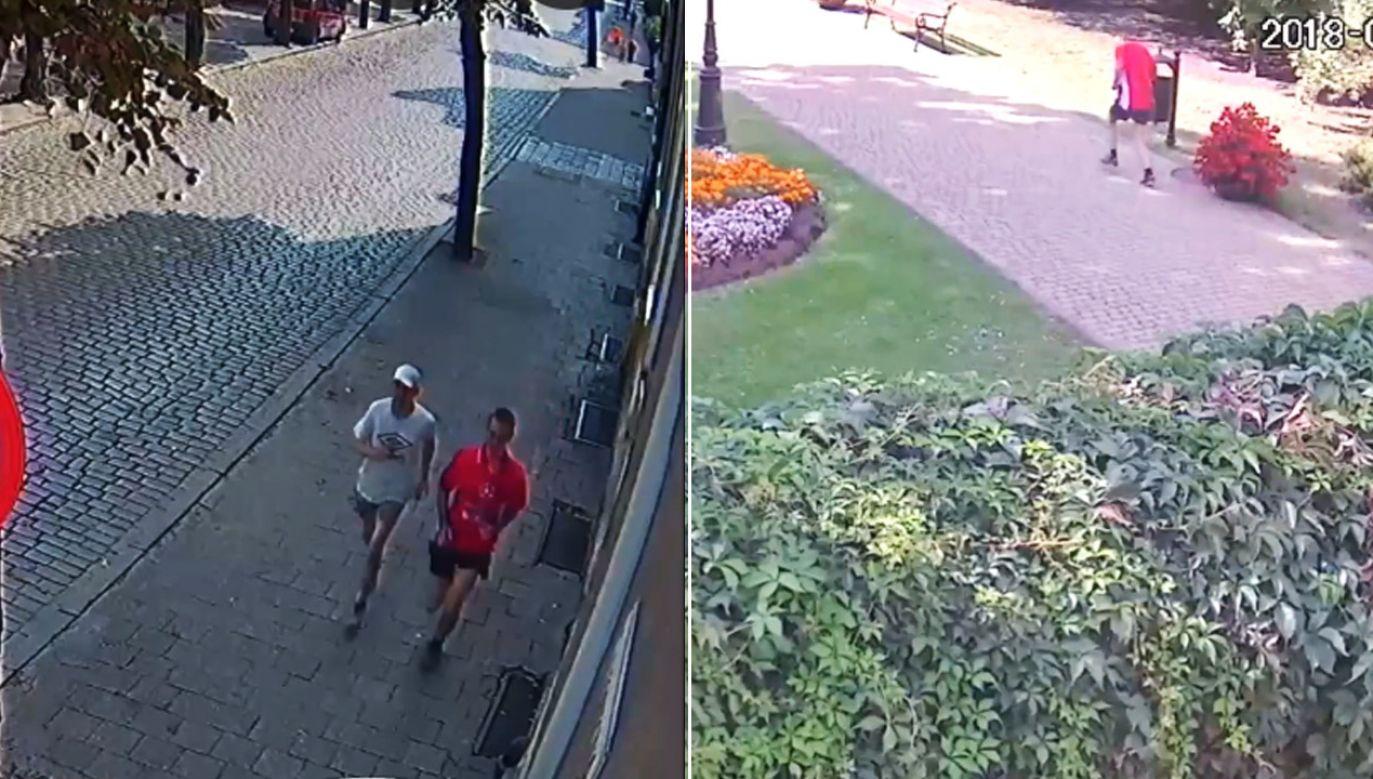 Monitoring uchwycił mężczyzn tuż po kradzieży (fot. KMP Grudziądz)