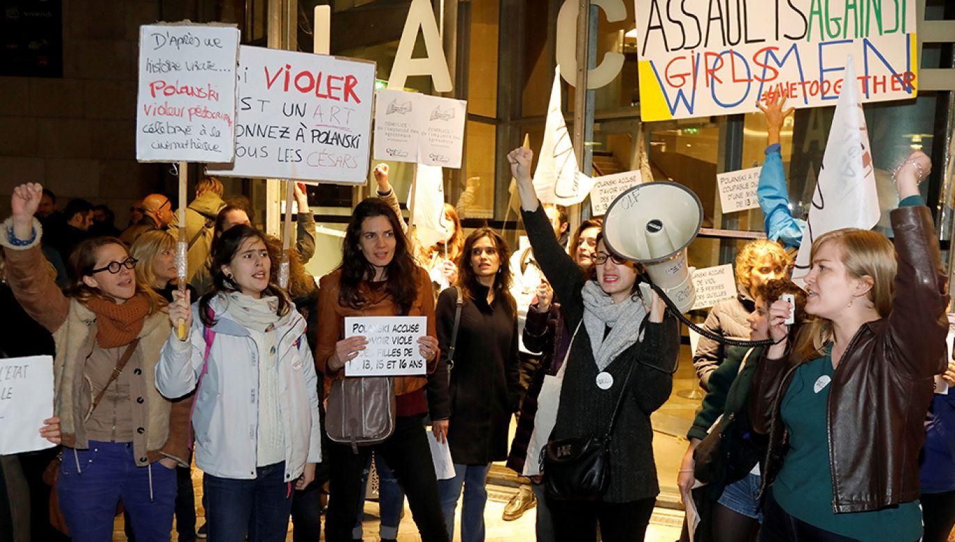 Przeciwko Romanowi Polańskiemu protestowały m.in. aktywistki z ruchu Femen (fot. REUTERS/Charles Platiau)