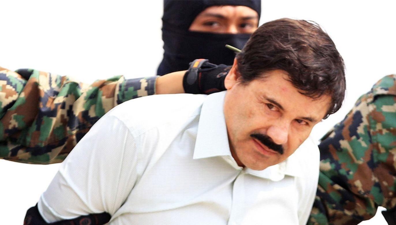 """Joaquin """"El Chapo"""" Guzman ma odsiedzieć wyrok w USA (fot. PAP/EPA/MARIO GUZMAN)"""