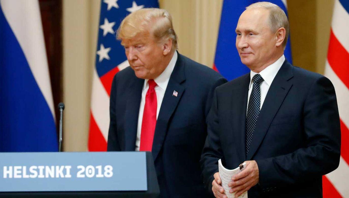 Spotkanie Trumpa i Putina za zamkniętymi drzwiami trwało o 40 minut dłużej, niż pierwotnie planowano (fot. PAP/EPA/ANATOLY MALTSEV)