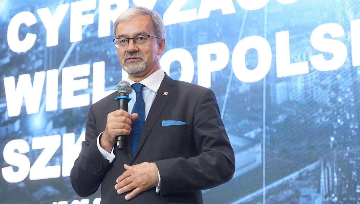 Minister inwestycji i rozwoju Jerzy Kwieciński skomentował kwietniowe dane GUS  (fot. PAP/Jakub Kaczmarczyk)