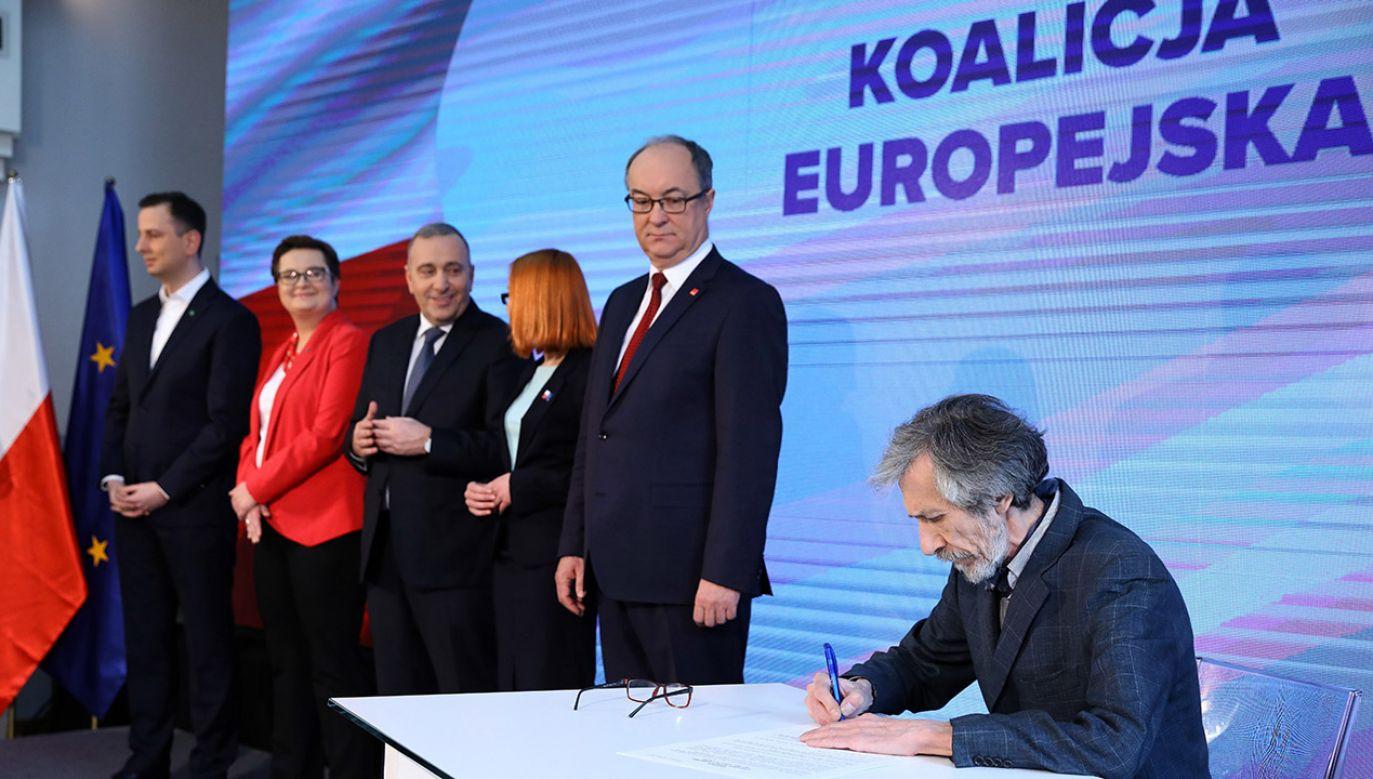 24 bm. w Warszawie podpisano deklarację o powołaniu Koalicji Europejskiej (fot. PAP/Rafał Guz)