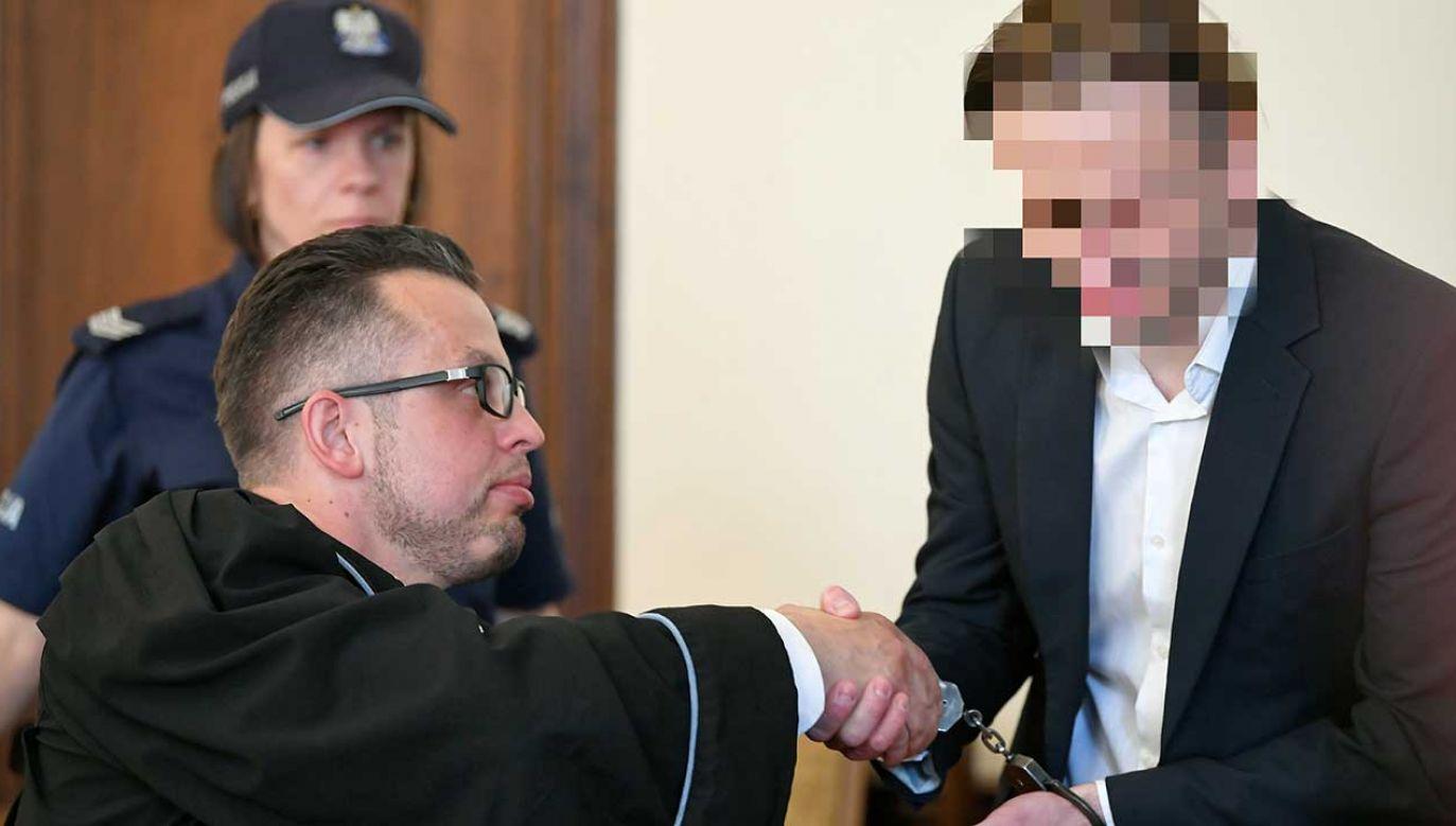 Marcin P. w swojej wypowiedzi przed sądem powiedział tylko, że podtrzymuje w całości stanowisko swojego adwokata(fot. arch. PAP/Adam Warżawa)
