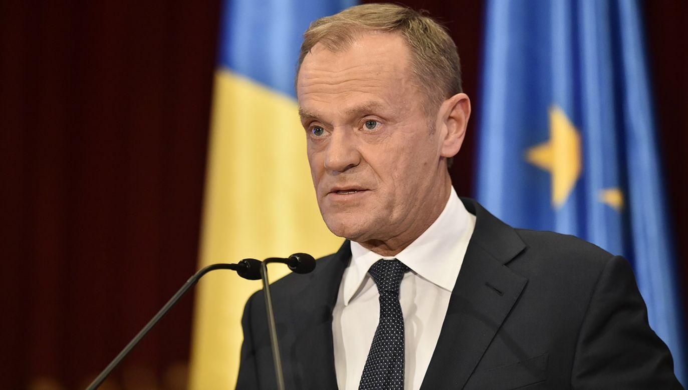 Szef Rady Europejskiej Donald Tusk (fot. PAP/ EPA/ROMANIAN GOVERNMENT/AGERPRES)