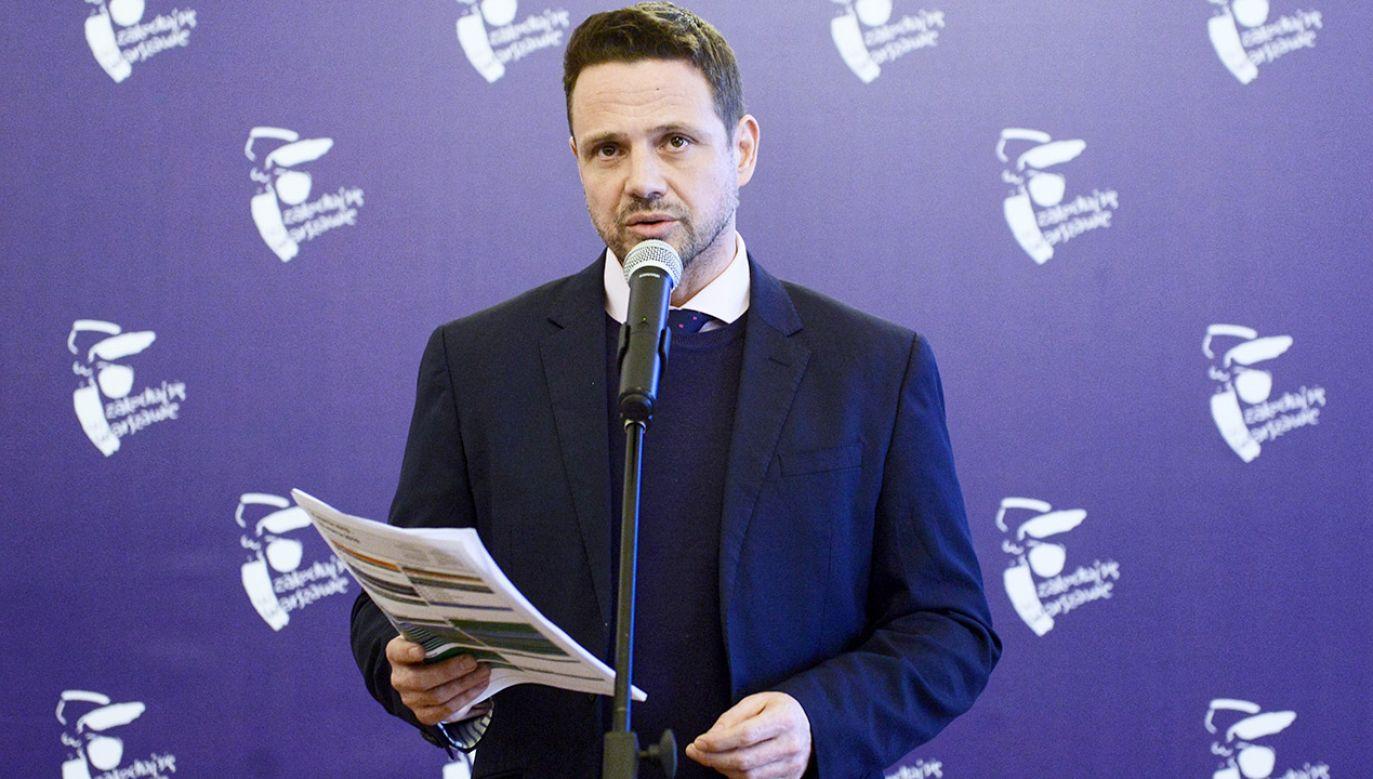 Prezydent Warszawy Rafał Trzaskowski (fot. PAP/Jakub Kamiński)