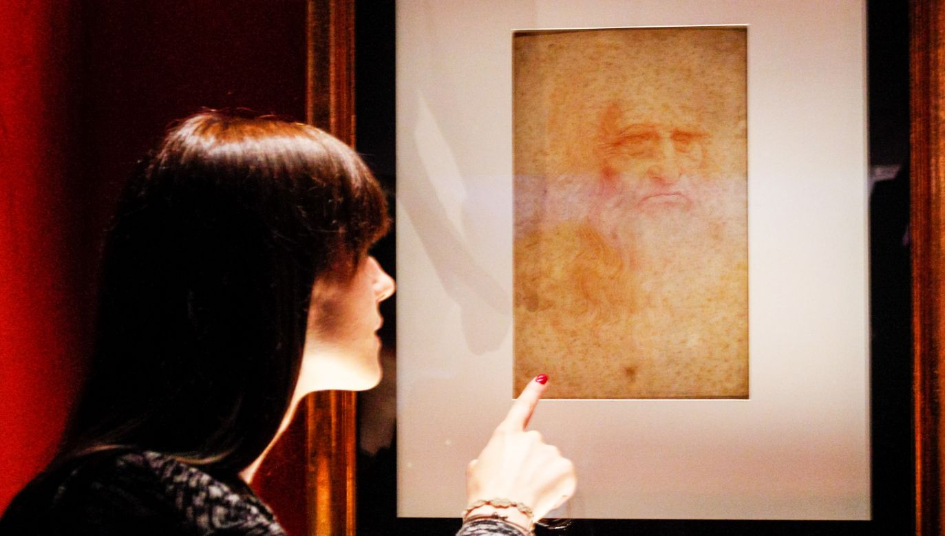 Autoportret Leonarda da Vinci (fot. Elena Aquila/Pacific Press/LightRocket via Getty Images)