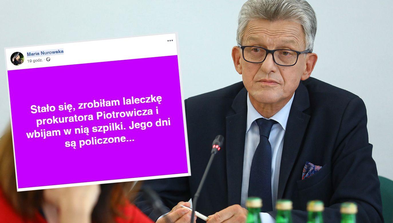 Nurowska oświadcza, że to już nie pierwszy raz, kiedy będzie wbijać szpilki prokuratorowi (fot. PAP/Rafał Guz)