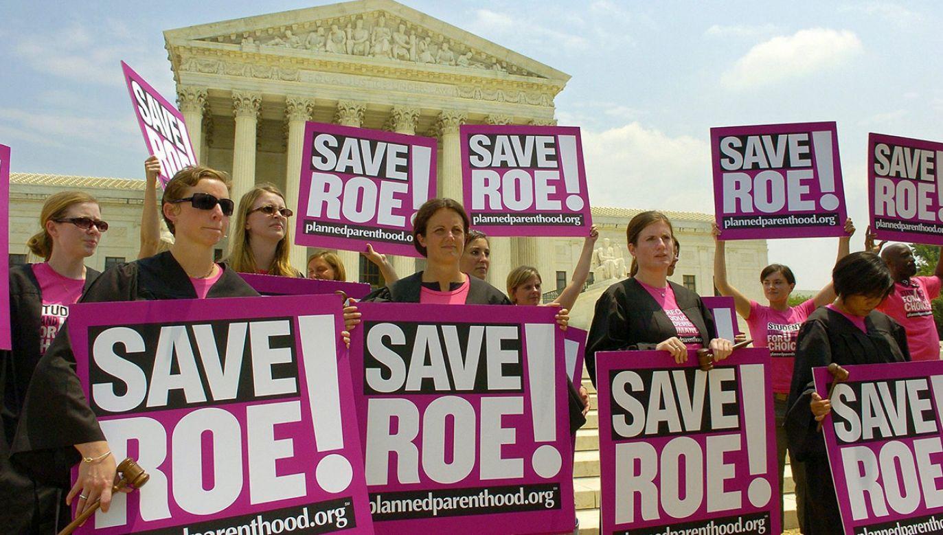 Film ma przedstawiać kulisy wydania przez amerykański Sąd Najwyższy decyzji z 1973 r., na podstawie której zalegalizowano w USA aborcję na życzenie (fot. arch. PAP/EPA/MIKE THEILER)