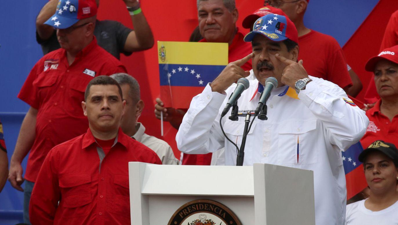 Lewicowy prezydent Wenezueli Nicolas Maduro oskarżył Juana Guaido o przygotowywanie spisku mającego na celu zamordowanie go (fot. Lokman Ilhan/Anadolu Agency/Getty Images)