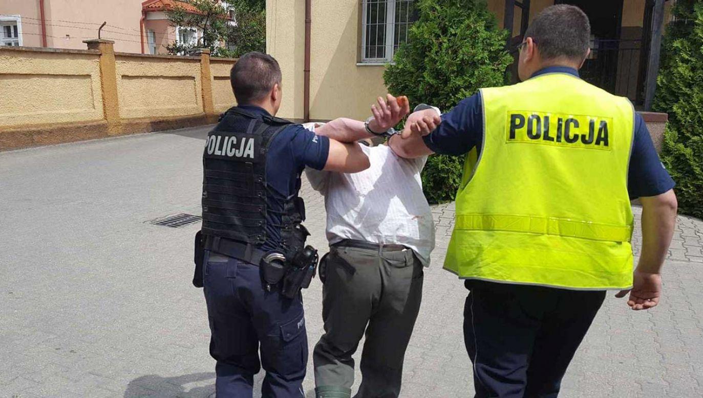"""Oskarżony powiedział policjantom, że """"mu odwaliło"""", ale nie przyznał się do zarzutów (fot. wm.policja.gov.pl)"""