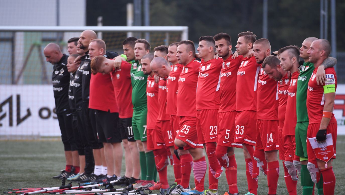 The Polish national amputee football team. Photo: PAP/Bartłomiej Zborowski