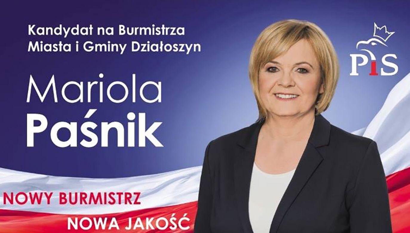 Ponad połowa mieszkańców Działoszyna zagłosowała przeciw wybraniu Marioli Paśnik (fot. FB/Mariola Paśnik)