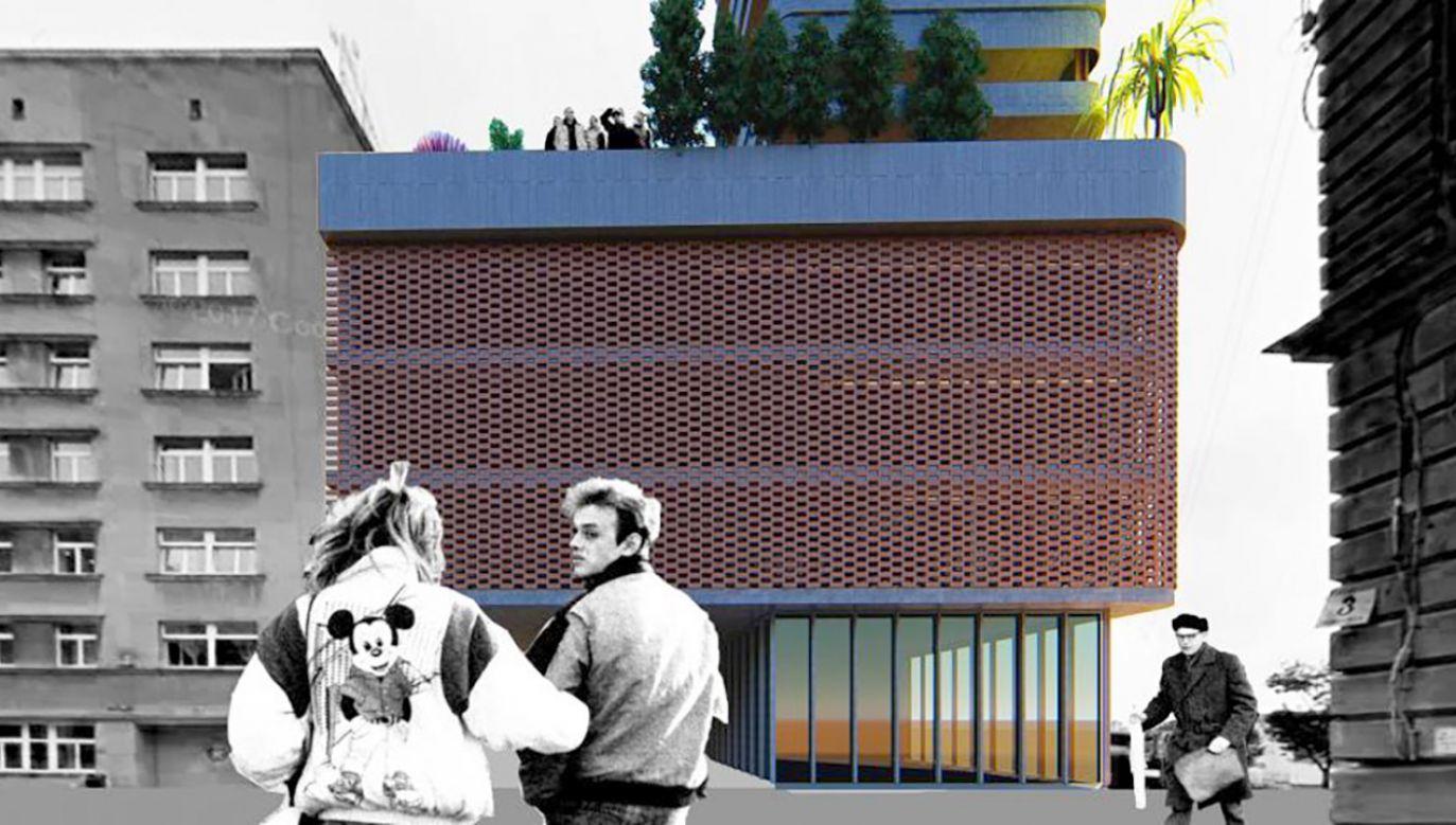 """Uczestnicy konkursu mieli za zadanie stworzenie koncepcji oryginalnego budynku mieszkalnego, który mógłby być samowystarczalnym """"miastem w mieście"""" (Wizualizacja K. Słomiany, N. Tadla, K. Wróbel)"""