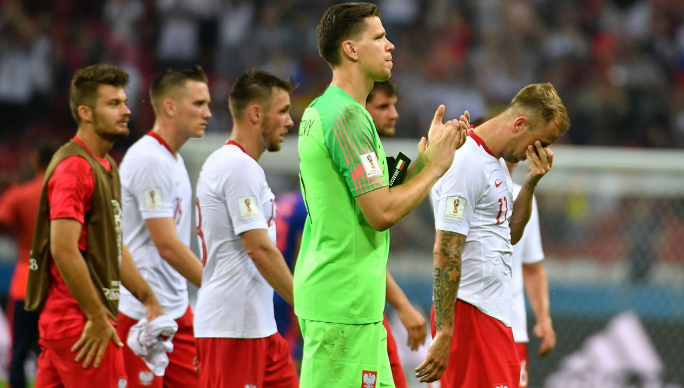 Piłkarze reprezentacji Polski po meczu grupy H mistrzostw świata z Kolumbią (fot. PAP/Bartłomiej Zborowski)