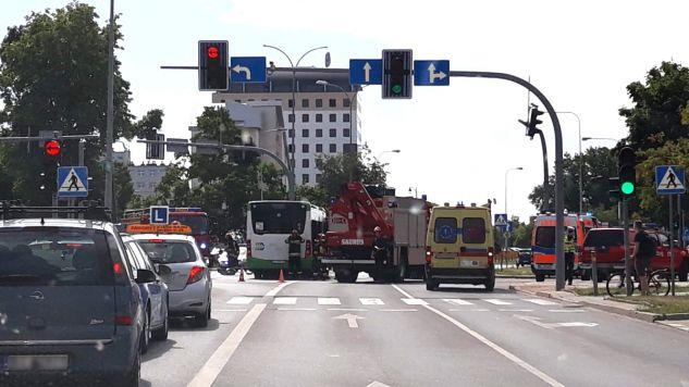 Kierowca autobusu był trzeźwy (fot. tt/MiastoBialystok)