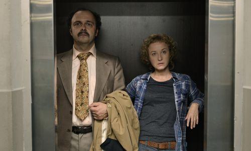 "Serial ""Paradoks"", reż. Greg Zglinski i Borys Lankosz, na zdjęciu Gabriela Muskała i Arkadiusz Jakubik. Fot. arch. TVP/Phillip Skraba"