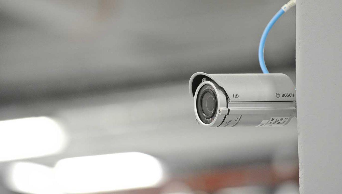 City Security prowadzi monitoring budynku w którym mieszka prezes TK (fot. arch. PAP/Marcin Obara)