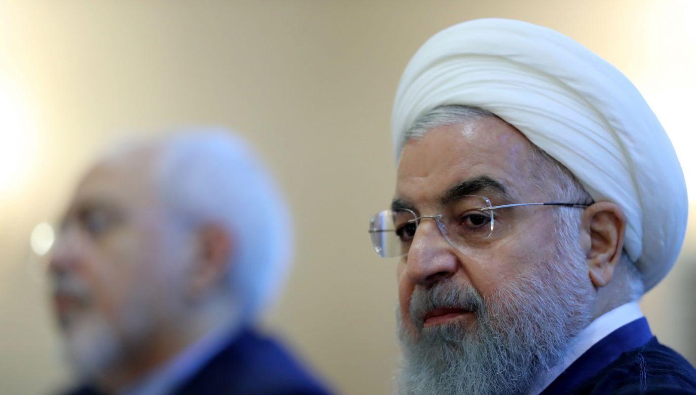 """Rowhani dodał też, że Trump """"nie jest w pozycji, by podburzać Irańczyków przeciwko ich bezpieczeństwu"""" (fot.PAP/EPA/PRESIDENTIAL OFFICE HANDOUT)"""