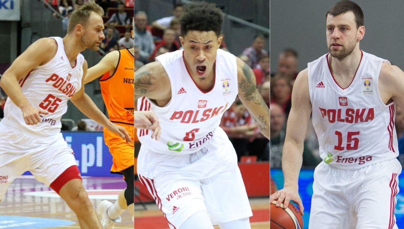 Łukasz Koszarek, AJ Slaughter, Kamil Łączyński (fot. Getty Images)