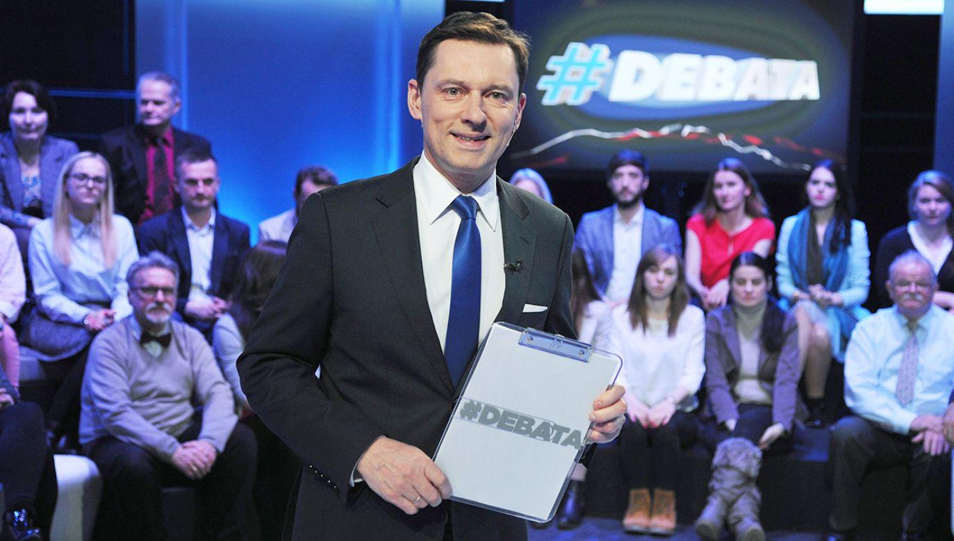 W debacie mają wziąć udział przedstawiciele wszystkich sześciu komitetów, które zarejestrowały listy we wszystkich 13 okręgach w wyborach do Parlamentu Europejskiego (fot. arch.TVP/PAP/Jan Bogacz)