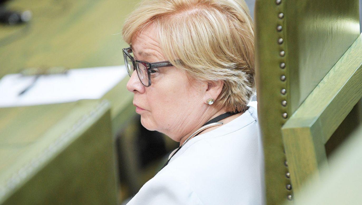 Małgorzata Gersdorf podkreślała wielokrotnie, że kadencja I prezesa SN zgodnie z konstytucją trwa 6 lat.   (fot. arch.PAP/Marcin Obara)